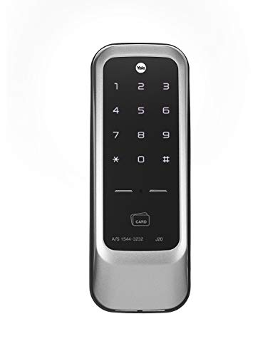 Yale J20 Stainless Steel PIN Code, RFID Card, App Access and Bluetooth Optional Rim Lock (Black),...