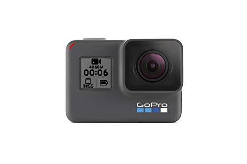 GoPro HERO6 Black – Refurbished Camera – Impermeabile Digital Action Camera per Viaggio con Touch Screen 4K HD Video 12MP Photos