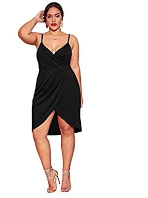 Size: Please refer to the size chart as below(not amazon size) Fabric: Very stretchy, breathable, this dress made of soft material, it is very comfortable to wear Occasion: This sexy and elegant dress is perfect for party, casual, cocktail, homecomin...