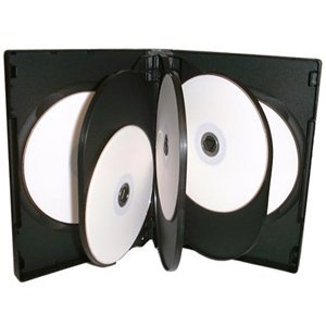 25x CD/DVD/Blu Ray 27mm nero 8way custodia per 8disco di Dragon Trading