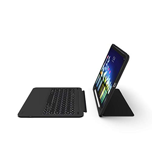 ZAGG Slimbook Go - Ultrathin Case, Hinged with Detachable Bluetooth Keyboard - Made for 2019 Apple iPad Pro 11' - Black
