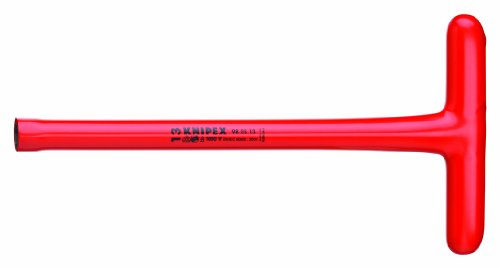 KNIPEX Tools - T-Socket Wrench, 13 mm, 1000V Insulated (980513)