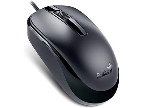 Genius DX-120 - Ratón (alámbrico, 100 dpi, USB), color negro