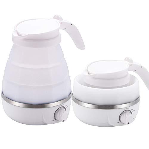 OurLeeme Faltbarer elektrischer Kessel, 0.6L Elektrisch Reisewasserkocher Nahrungsmittelgrad Silikon Reise Kessel Kochen trockenen Schutz tragbaren Wasserkocher