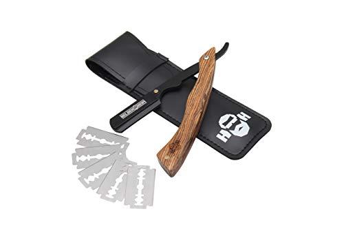 Heldenheim® R1 Rasiermesser aus Rosenholz mit 5 Wechselklingen, Etui, Anleitung und eBook   Rasur Set