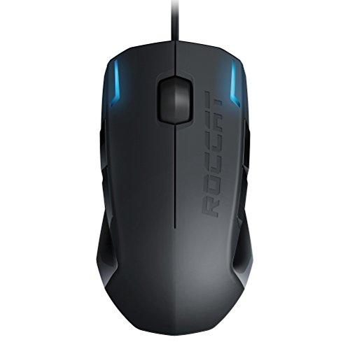 Roccat Kova+ - Ratón Gaming (Sensor Pro-Optic 3200 DPI, tecla Easy-Shift[+], ambidextro) negro