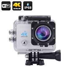 Sport Action Camera 4K Ultra HD wifi Impermeabile, Lente Grandangolo 170, Videocamera Full HD 1080P...