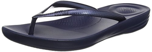Fitflop IQUSHION Flip Flop-Solid, Chanclas Mujer, Midnight Navy, 36 EU