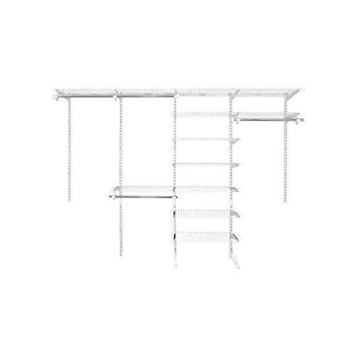 Rubbermaid Fasttrack 6 to 10 Ft Wide White Wire Custom Closet...