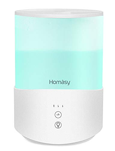 Homasy Cool Mist Humidifier Diffuser, 2.5L Essential...