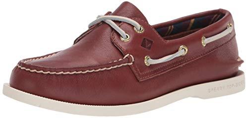 Sperry Zapatos de barco de piel auténtica original Plushwave para mujer, marrón (Bronceado), 38 EU