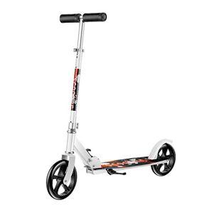 Relaxbx Patinete Plegable de Ruedas Grandes para Adultos/Adolescentes/niños Scooter de Transporte Ligero Ajustable con…