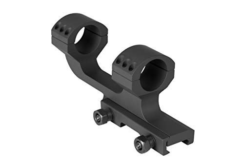 Monstrum Offset Cantilever Dual Ring Scope Mount | 1 inch Diameter (Black)
