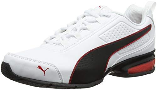 PUMA Leader VT SL, Zapatillas de Correr Unisex-Adulto, Blanco (White/Black/Flame Scarlet), 42 EU
