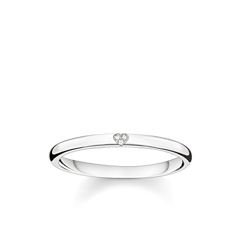 THOMAS SABO Damen Ring Herz 925er Sterlingsilber D_TR0016-725-14