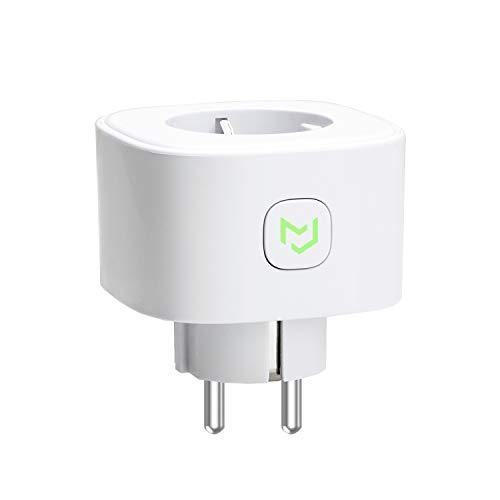 Meross - Enchufe inteligente Schuko MSS210(EU) WiFi, inalámbrico, 16 A, 3680 W, función de temporizador, compatible con Amazon Alexa, Google Assistant e IFTTT, control remoto a través de Android e iOS