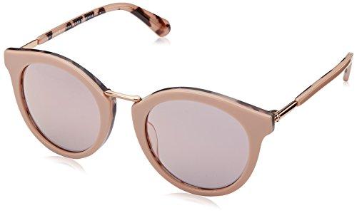 Kate Spade New York Women's Joylyn Round Sunglasses, Pink Havana, 50 mm
