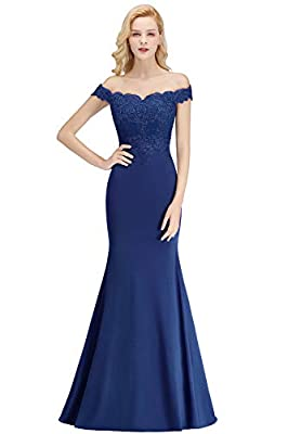 Dry clean only/flat dry/low iron 2020 Off Shoulders Women's Long Mermaid Formal Evening Gowns Features lace appliques, off the shoulder sleeves, sweetheart neckline. Ideal choice as a formal dress for prom, evening party, gala, military ball, black t...