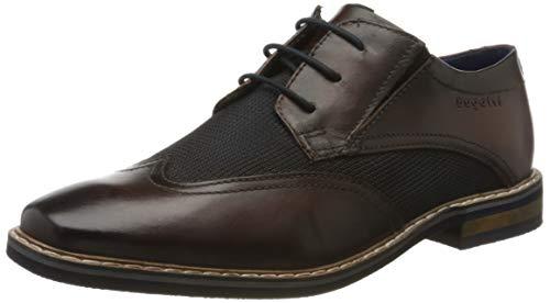 Bugatti 311896051169, Zapatos de Cordones Derby Hombre, Marrón (Dark Brown/Blue 6140), 42 EU