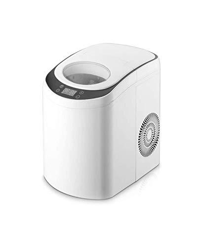 LJJOO Macchina di ghiaccio automatica compatta della macchina per il ghiaccio 15kg, macchina del ghiaccio rotondo del reparto portatile portatile domestico, mattina del ghiaccio della mattinata del gh