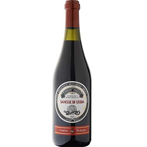Sangue di Giuda dell' Oltrep Pavese Doc | Cantine Montagna | Vino Rosso Dolce da 75 Cl | Idea Regalo