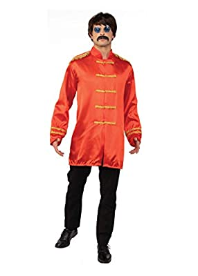 """Sgt Pepper Jacket Budget Red Standard Size. Chest 36""""-42"""" Outfit Includes Jacket The Perfect 1960's Accessory Wig, Glasses, Trousers and Shoes Not Included"""