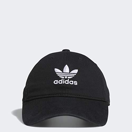 adidas Originals Women's Relaxed Adjustable Strapback Cap, Black/White, One Size