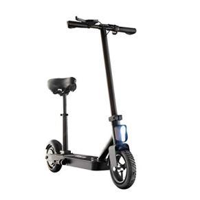 DSJMUY Plegable Scooter Eléctrico, 350W Patinete Eléctrico con Sillín Barra Plegable Portátil Altura Ajustable Velocidad…
