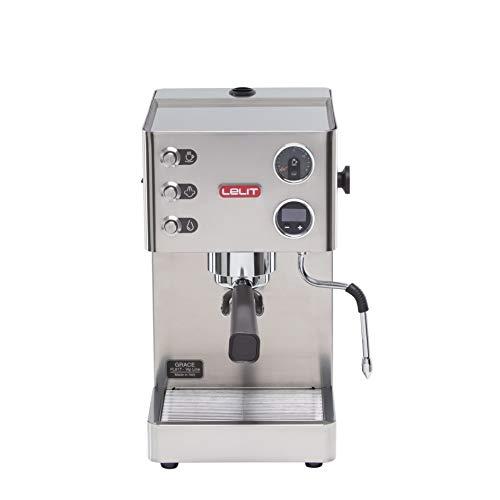 Lelit PL81T Grace Macchina per Espresso Semiprofessionale, 1000 W, 1 Cups, Acciaio Inossidabile, Argento
