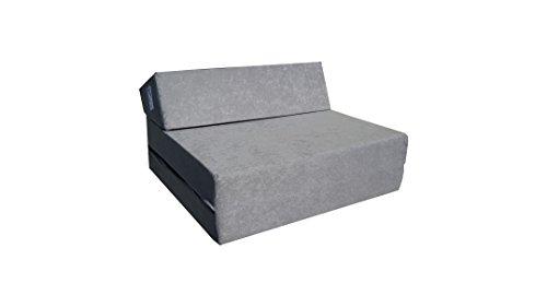 Natalia Spzoo Materasso futon pieghevole lunghezza 160 cm in diversi colori (Grigio)
