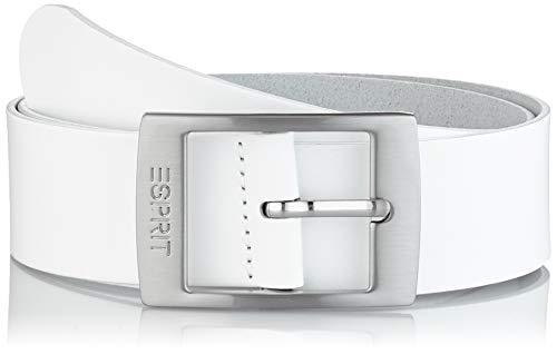 Esprit Accessoires Damen 999EA1S807 Gürtel,, per pack Weiß (WHITE 100), 90|#90|#6641 (Herstellergröße: 90)