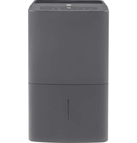 GE Energy Star 50 Pint Dehumidifier for Home or Basement with Built-in Pump, Grey