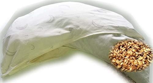 Natur-shop Bio Dinkelkissen Nackenstützkissen 25 * 55 cm mit abnehmbarem Motiv Bezug mit Reißverschluß innerhalb Deutschland - Dinkelkopfkissen Dinkelspelzkissen