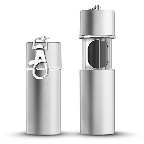 Cendrier portable x 2, mini cendrier de poche anti-odeurs avec chaîne...