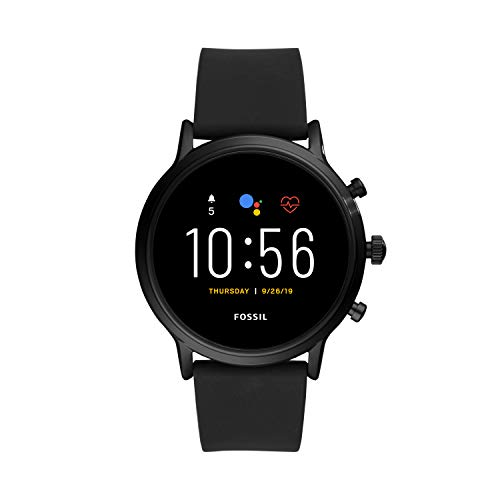 Fossil Smartwatch GEN 5E Connected da Uomo con Wear OS by Google, Frequenza Cardiaca, Notifiche per Smartphone e NFC, con Cinturino in Silicone, Nero