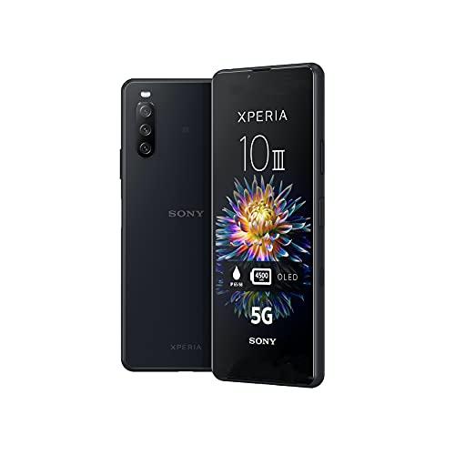 Sony Xperia 10 III | Smartphone Android, Téléphone Portable 5G, Batterie de 4500mAh, Design soigné et résistant, Ecran 6' OLED 21:9 - Noir