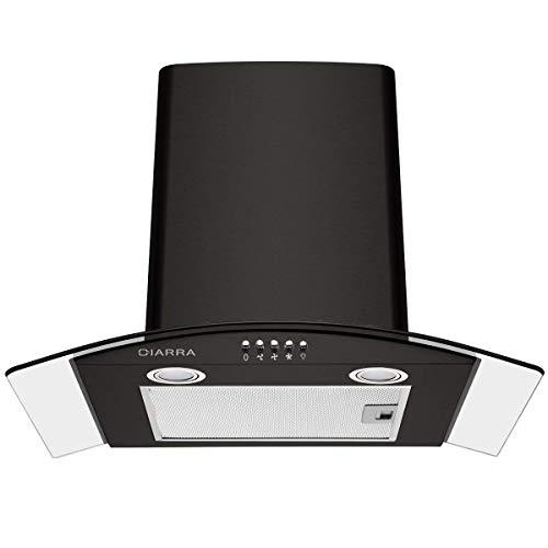 CIARRA CBCB6506B Cappa Aspirante 60 cm, Cappa Cucina per 550 m/h, 3 gradini, Vetro LED, Scarico/Aria...