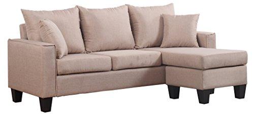 Divano Roma Furniture Modern Sectional, Apricot