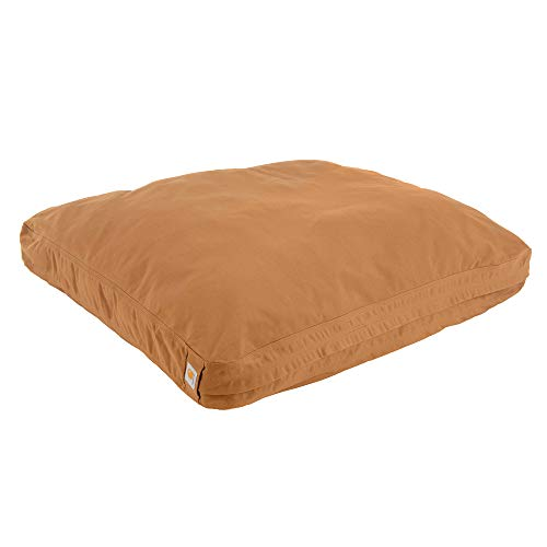 Carhartt Durable Canvas Dog Bed, Premium Pet Bed With Water-Repellent Coating, Medium, Carhartt Brown