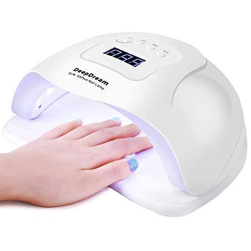 DeepDream 110w LED Nail Lamp, UV Light Nail Dryer for Gel Acrylic Polish Fingernail Toenail Curing Lamp with 4 Timer Setting Smart Sensor