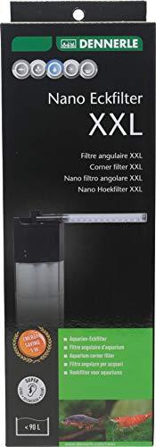Dennerle Nano Eckfilter XXL   Filter für Aquarien bis 90 Liter   Leistungsstark, leise & kompakt