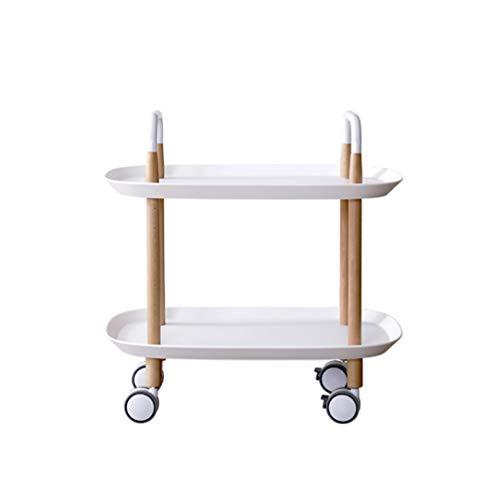 Nordic Style Piccoli Tavolino Trolley Semplice a due piani Ripostiglio Adatto for Balcone Camera da...
