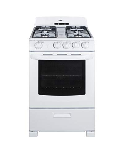 Summit RG244WS 24 Inch Wide 2.9 Cu. Ft. Free Standing Gas Range with Broiler Compartment