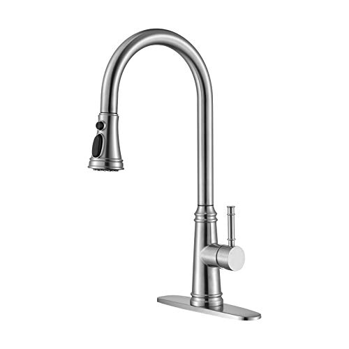 Kitchen Touchless Faucet with Pull Down Sprayer, HAHZT Kitchen Sink Faucet with Sprayer Stainless Steel Kitchen Sink Faucet with Pull Down Sprayer, Pull Out Kitchen Faucets, Faucets for Kitchen Sinks