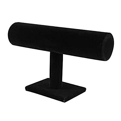 Crafted from beautiful black velvet that is soft to the touch and will protect your jewelry from any kind of damage or abrasion. Made from wood with weight on the base instead to prevent tipping over after hanging jewelry. Its short build helps you h...