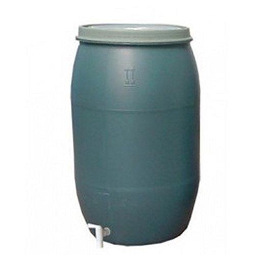AGROHIT Regentonne Weithalsfass 220l Regenfass Weithalstonne Kunststoffbehälter grün