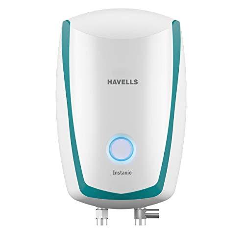 Havells Instanio 3-Litre 3KW Instant Water Heater (Geyser), White Blue