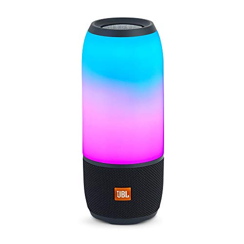 3199Jy95e L Take your listening experience to the next level with the JBL Pulse 3, the portable, waterproof Bluetooth speaker that combines 360° sound with 360° lightshow. With a built–in rechargeable battery that delivers up to 12 hours of playtime and an IPX7 waterproof housing, Pulse 3 is perfect for worry–free listening by the beach or pool – or even in it. With JBL Connect+ technology, you can wirelessly link more than 100 JBL Connect+ enabled speakers to amplify the party
