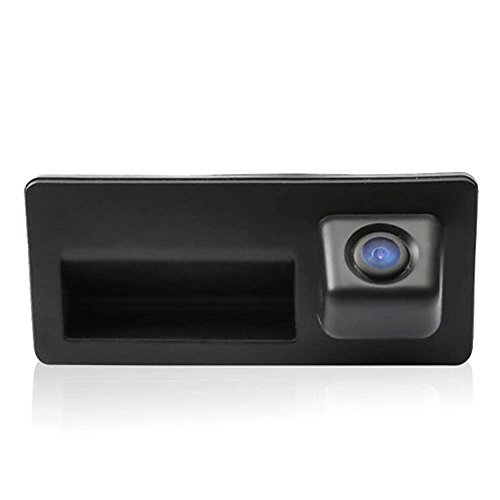 kalakus Colore telecamera di retrovisione con linee di griglia come luce targa, sensore di parcheggio Nero per Tiguan Touareg Golf VI Variant A4 A3 A6L A8