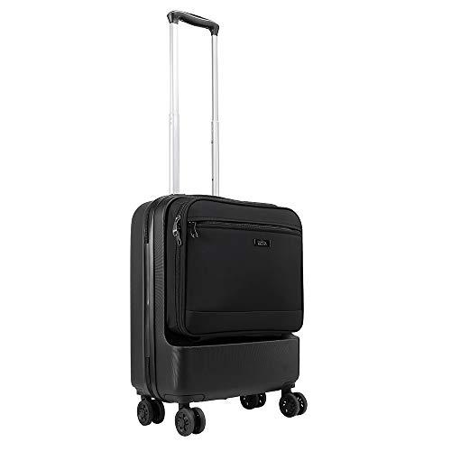 Cabin Max Fusion Bagaglio da cabina in ABS con tasca frontale ad accesso rapido - Trolley da Viaggio...